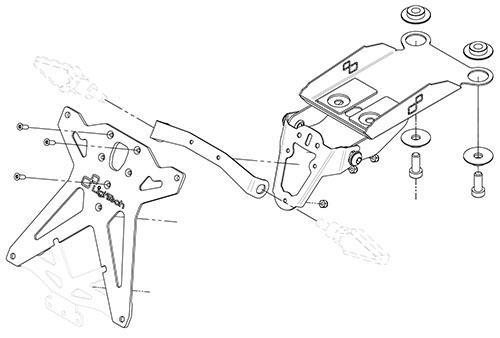 ducati hypermotard 821 2013 2015 lightech license plate
