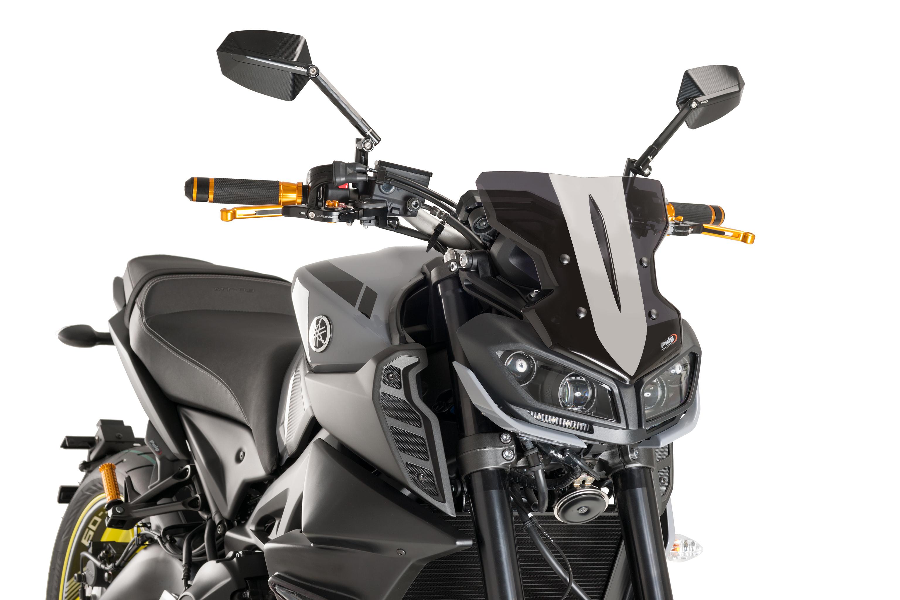 Yamaha Mt 09 2017 Puig Screen Dark Smoke Naked Sport Windscreen Ebay