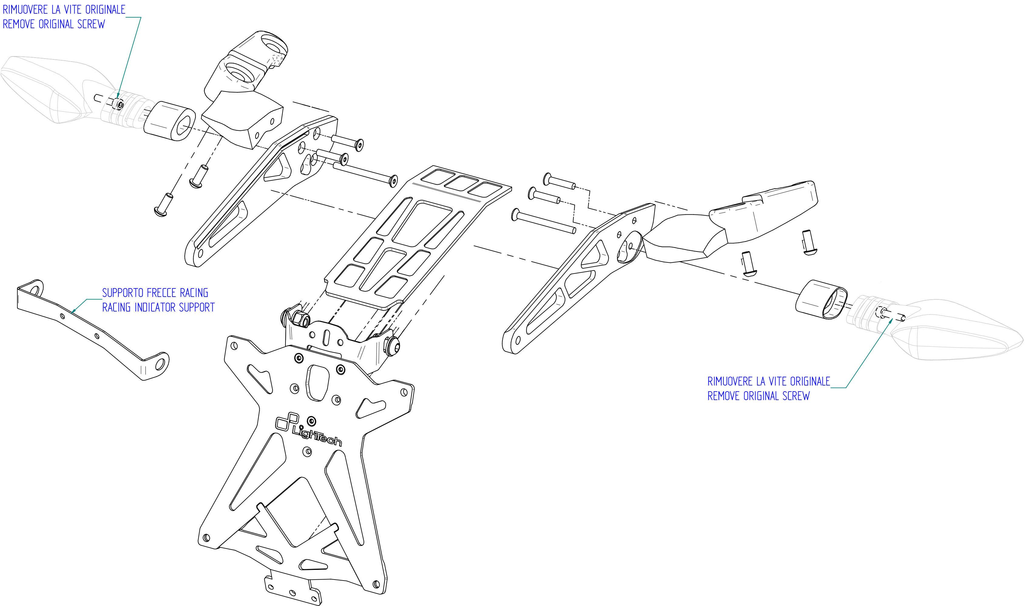 ducati monster 821 2014  u0026gt  lightech license plate bracket